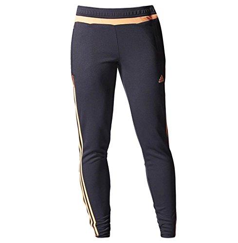 adidas Women's Tiro 15 Training Pants, Night Grey/Flash Orange/Phantom, X-Small