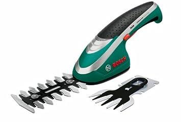 Bosch Juego Isio - Set de tijeras cortacésped y tijeras arreglasetos a batería, 2 cuchillas