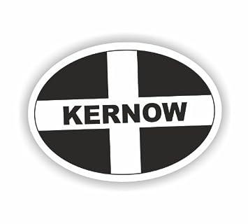 Kernow Cornwall Oval Sticker Cornish Stickers St Piran Flag Kernow Car Van Decal