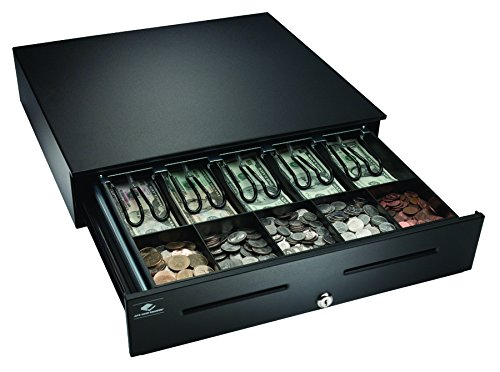 APG JB320-BL1816-C Heavy-Duty Painted-Front Cash Drawer with MultiPRO 320 Interface, 24V, 18' x 4.2'...
