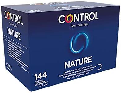 Control Nature Preservativos - Caja de condones con 144 unidades (pack grande ahorro) - Gama placer natural, lubricados, perfecta adaptabilidad.: Amazon.es: Salud y cuidado personal