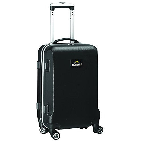 NFL Los Angeles Chargers Carry-On Hardcase Spinner, Black by Denco