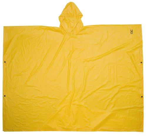 CLC Rain Wear R10410 .10MM PVC Poncho - Yellow Large