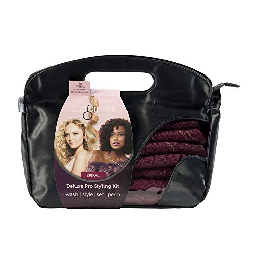 Curlformers Hair Curlers Deluxe Range Spiral Curls Styling Kit, 40 No Heat Hair Curlers and 2 Styling Hooks for Super Long Hair up to 29