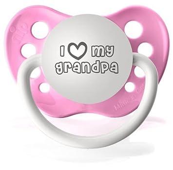 Amazon.com: I Heart My Grandpa chupetes personalizado en ...