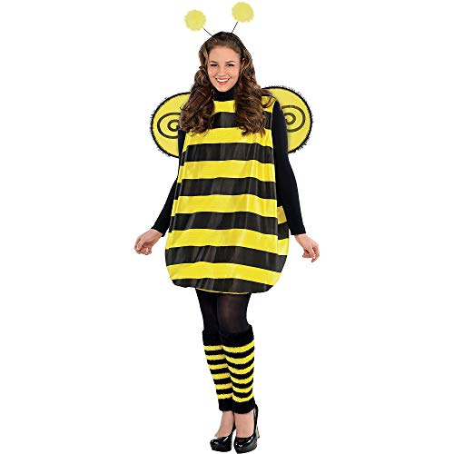 (AMSCAN Darling Bee Halloween Costume for Women, Plus Size, with Included)