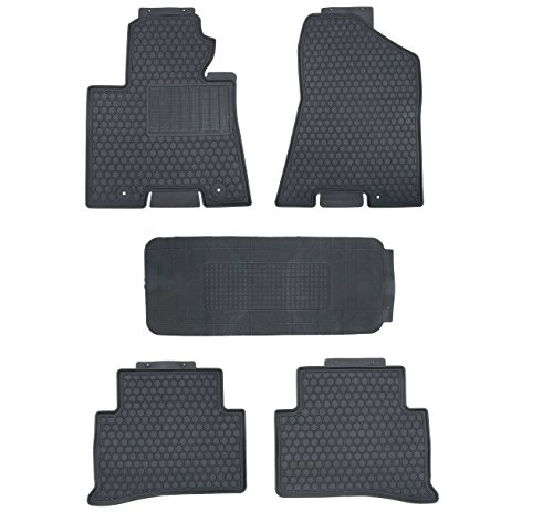 (Black Rubber All Weather Floor Mats for Kia Sportage 2016-2018)