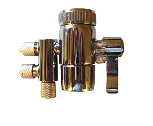 2-Way Water Diverter for faucets, fit spout with MALE threads (55/64''), for 1/4'' tubing by Reverse Osmosis Revolution