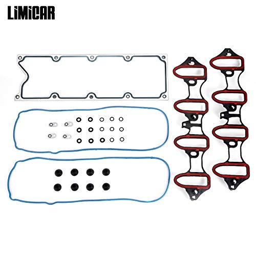 LIMICAR Intake Manifold Gasket Set MIS16340 Compatible with Chevrolet Avalanche Express GMC Sierra 1500 GMC - Intake Suburban Manifold Gasket