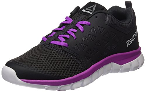 Reebok 2 Pewter White Grey 0 Women's Vicious Running Xt Sublite Violet Coal Cushion Competition Mt Shoes rZnrqI1x