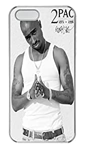Tupac Outlaw Custom iPhone 5S Case Cover - Polycarbonate - Transparent