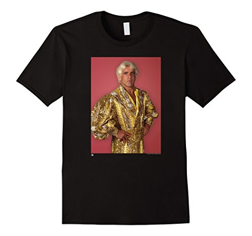 Ric Flair Robe (Men's WWE Ric Flair Gold Robe Photo with Background Small Black)