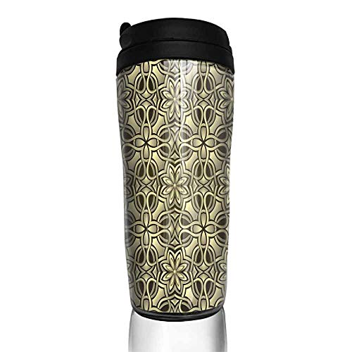 coffee cups set of Seamless wallpaper stylized like gold or bronze grid 12 oz,coffee cup shelf for cabinet
