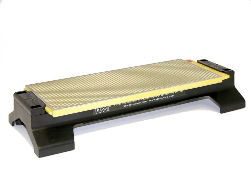 DMT W250EF-WB 10-Inch DuoSharp Bench Stone - Extra-Fine/Fine With Base ()