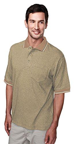 Tri Mountain 60 40 Yarn Dye Pocketed Golf Shirt   330 Prodigy