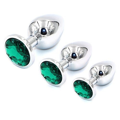 UIYTR 3PCS Jeweled Steel Trainer Toys-Green