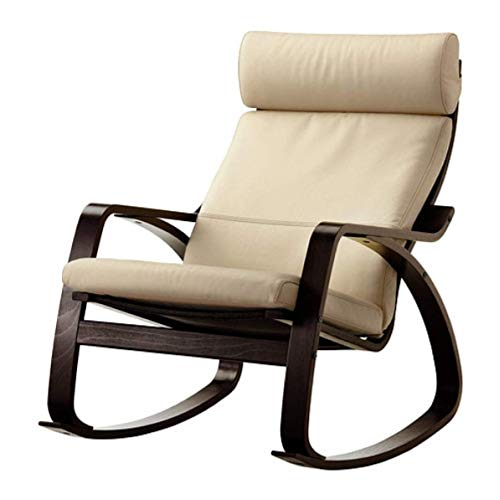 (IKEA Poang Rocking Chair Black-Brown Glose Robust Off-White 399.008.63)