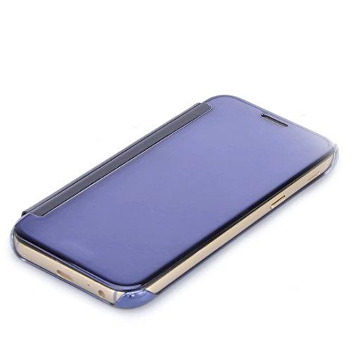Samsung Galaxy S8 Plus Funda, Vandot Hybrid Diseño 3 en 1 Cáscara Dura de la PC Recubrimiento Metálico Marco Chapado Matte de Lujo Hard Caja de Telefono Protección Cubierta Case Cover para Samsung Gal Flip Zafiro