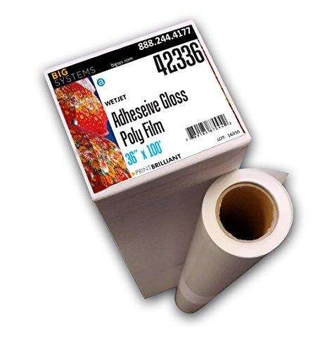 (WetJet Gloss Adhesive-Back Tearproof Poly Film (36