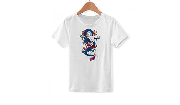 DIYthinker China Chino dragón Nube patrón de Cuello Redondo ...