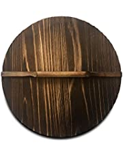 Natural Wood Wok lid/Cover Healthy and Environment Friendly Anti-bacteria Light