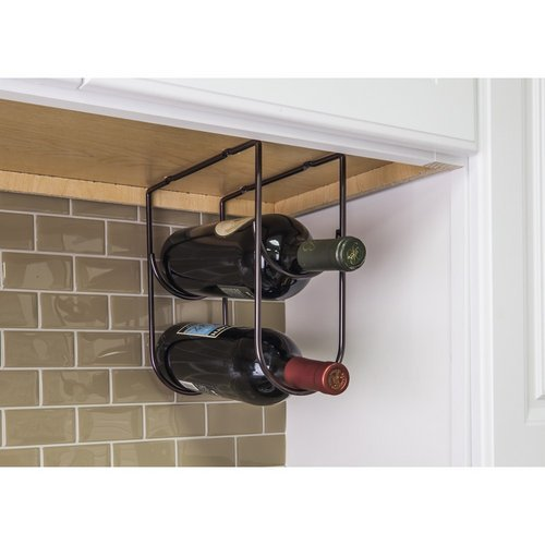 Hardware Resources WBH-DBAC-R Wine Bottle Holder, Brushed Oil Rubbed Bronze