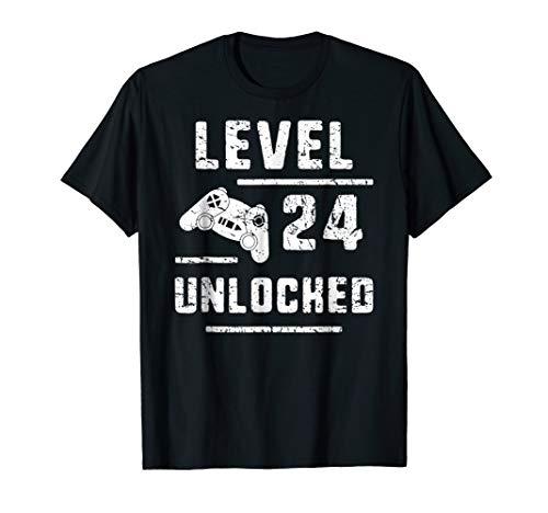 Gamer Boyfriend 24th Birthday Gift 24 Yrs Old Gaming T-Shirt