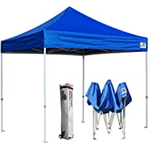 Eurmax 10 x 10 Ez Pop Up Canopy Tent Commercial Instant Shelter with Hevay Duty Roller Bag