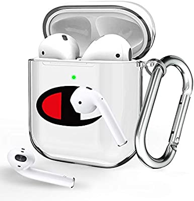 Airpods Case Clear Protective Airpod Case With Keychain Front Led