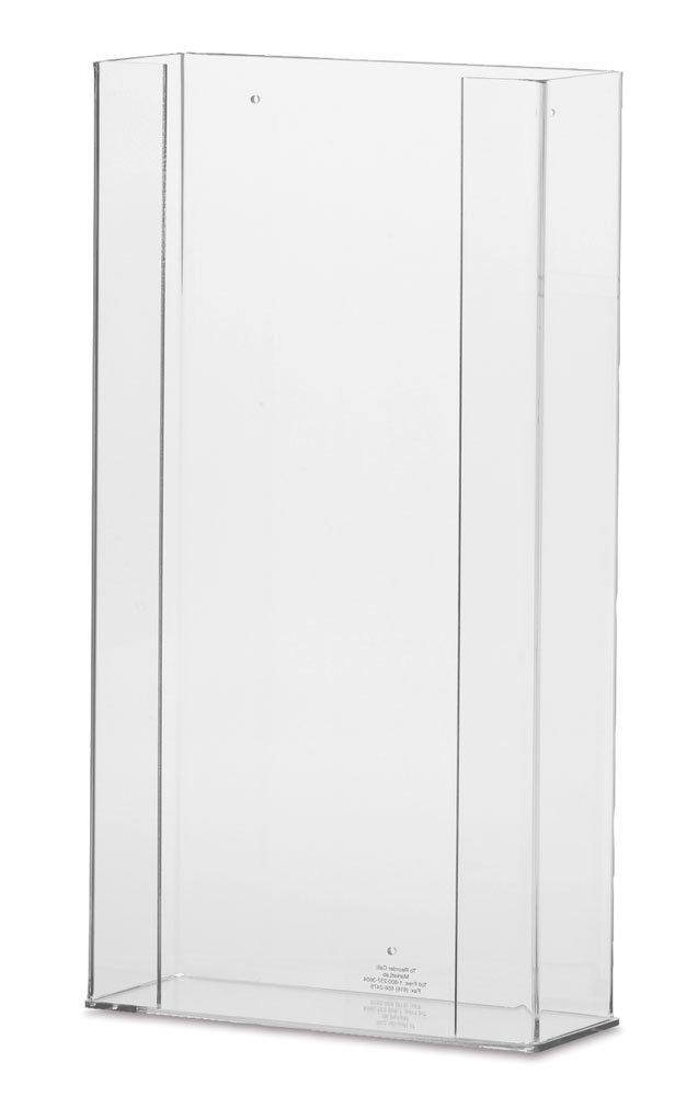 Clearform ML8106 Clear Acrylic Top-Loading Glove Dispenser, Standard, Quad