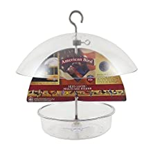 Droll Yankees AB-DF10 American Bird Seed Saver Multi-Use Feeder, Clear Polycarbonate