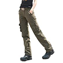Free Knight Women's Multi-pocket Cargo Cotton Casual Army Pants Outdoor Hiking
