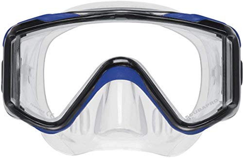 Scubapro Crystal VU-Plus Mask with Purge - Blue Easy Clear Nose Purge Mask