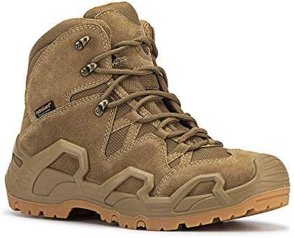 ROCKROOSTER – Walland Men 6'' Lightweight Trekking Military Waterproof Rubber Outsole Backpacking Hiking Boots Outdoor Boots KS535-KS537