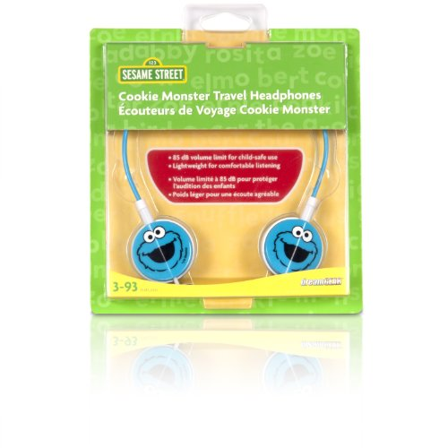 iSound Sesame Street Cookie Monster Travel Headphones