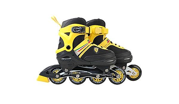 Amazon Com Ferrari Inline Skate Yellow Size 30 33 Sports Outdoors