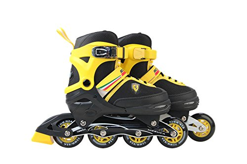 Ferrari Inline Skate, Yellow, Size 30-33