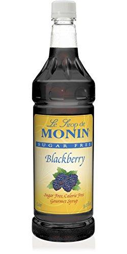 Blackberry Monin (Monin Sugar-Free Blackberry Syrup Plastic Bottle, 1 Liter (33.8 fl oz))