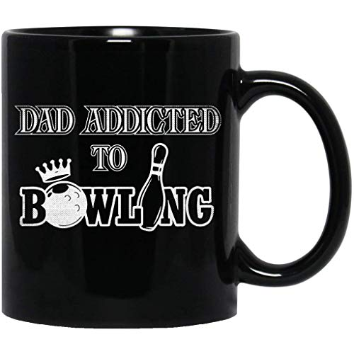 Dad Bowling Fathers Gift Mens Bowler Quote Funny Eat Sleep Bowl,Player Lovers Funny Black Mug