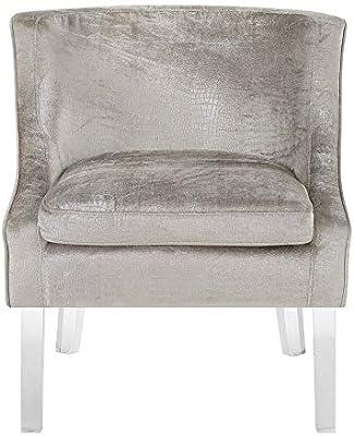 Abbey Avenue A-CHE-181AC Cheyenne Alligator Fabric Accent Chair in Beige