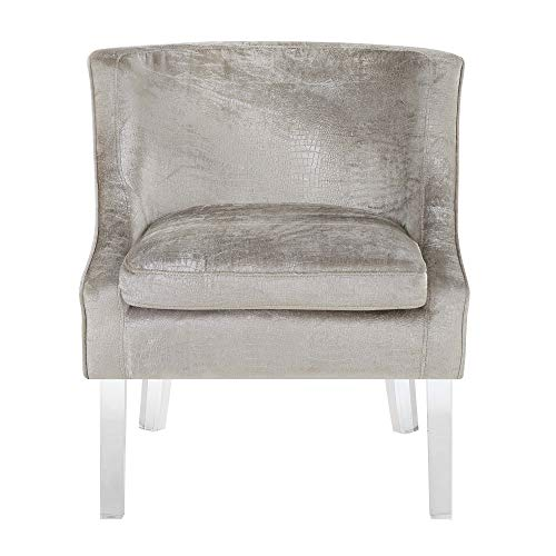 Abbey Avenue A-CHE-181AC Cheyenne Alligator Fabric Accent Chair in Beige,