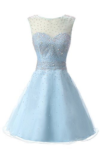 JYDress - Vestido - trapecio - para mujer azul azul celeste 46