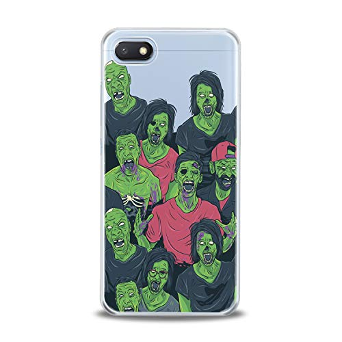 (Lex Altern TPU Case for Xiaomi Mi 9 A2 A1 Note 3 8 SE Mix 2s 5X 6X 8X Clear Creative Funny Green Zombies Portrait Horror Scary Cover Soft Silicone)