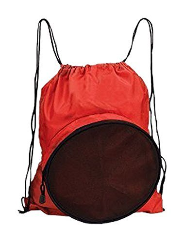 Travelwell Sport Ball Drawstring Backpack, Red