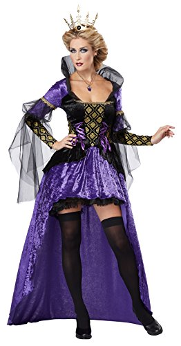 California Costumes Women's Wicked Queen Adult, Black/Purple, Large