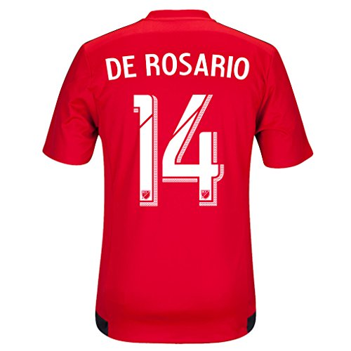 fan products of Red #14 DE ROSARIO Home Soccer Jersey Men's 2015 (XL)