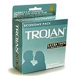 36 Trojan Premium Latex Condoms, Lubricated, Ultra Thin and Sensitive Condom, Economy Pack, Health Care Stuffs