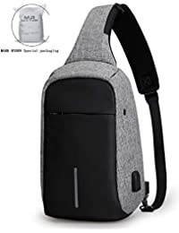 Anti Theft Sling Bag Shoulder Chest Cross Body Backpack Lightweight Casual Daypack