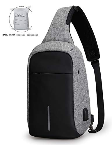 - Anti Theft Sling Bag Shoulder Chest Cross Body Backpack Lightweight Casual Daypack