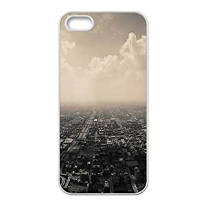 For SamSung Galaxy S4 Phone Case Cover Gloomy City Skyline Hard Shell Back White For SamSung Galaxy S4 Phone Case Cover 335975